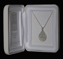 Sterling Silver Wedding Family Unity Medallion Necklace Pendant - Bright Finish