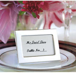 Memories by the Dozen Mini Silver Photo/ Picture Frames/ Place Card Holders and Wedding Favor