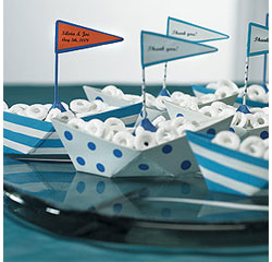 Metal Boats Personalized Wedding Favors