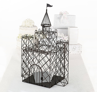 Metal Castle Brthday Card Box