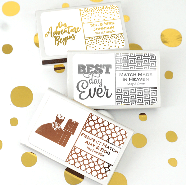 Personalized Wedding Matchboxes | Wedding Matchbox Favors