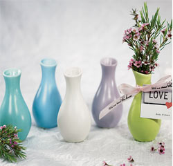 Colorful Mini Favor Vases for Wedding or Party