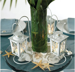 White Mini Tealight Lanterns with Hanger Wedding Decorations