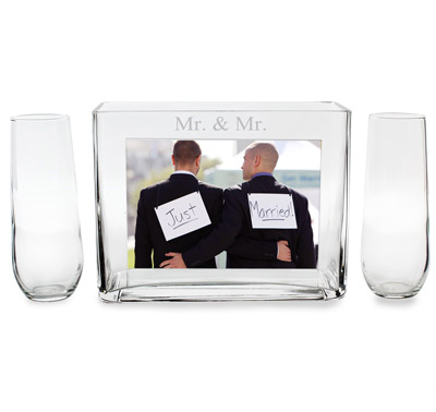 Mr. and Mr. Sand Ceremony Photo Frame | Mr and Mr unity sand ceremony