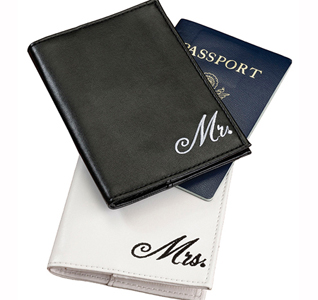 Mr. & Mrs. Just Married Honeymoon Passport Covers Gift
