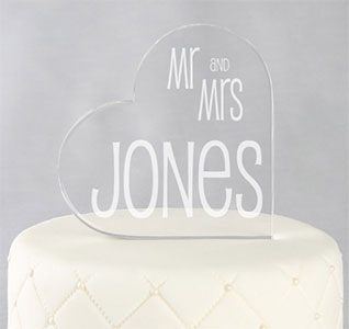 Mr Mrs Cake Topper