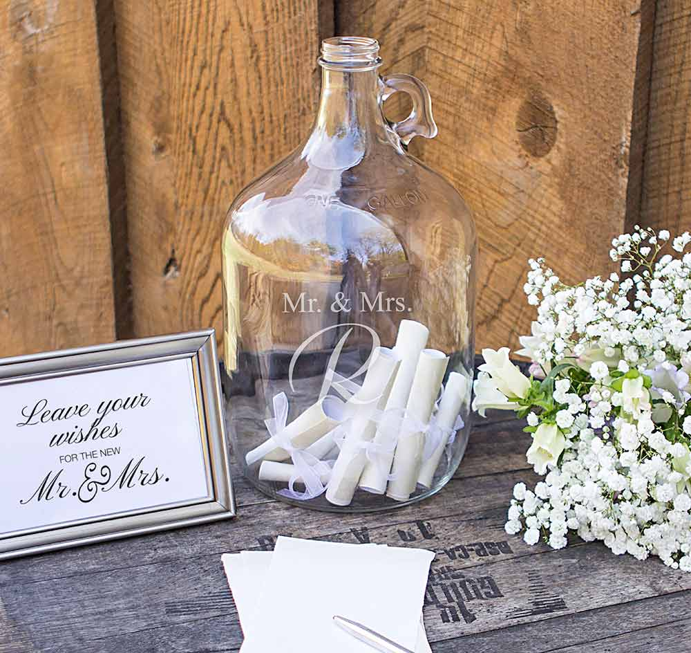 Mr Mrs Wedding Wishes In A Bottle Guest Book