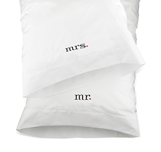 Mr. And Mrs. Pillowcases Just Married Honeymoon Gift