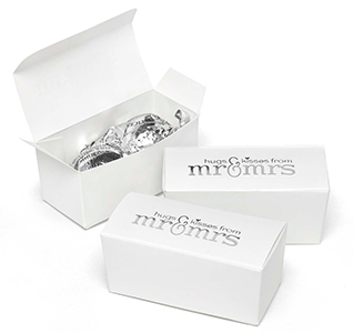 Mr. and Mrs. Truffle Favor Boxes
