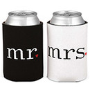 Mr and Mrs Wedding Koozies