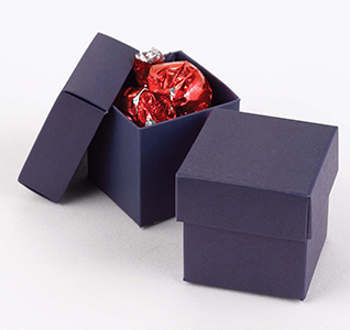 Navy Blue Favor Boxes