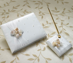 Oceans Away Wedding Guest Book and Pen Set