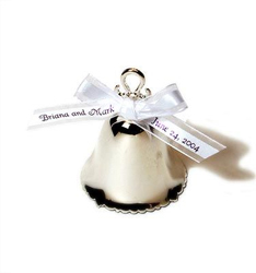 Ornament Silver Bell Wedding Favor