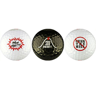 Over the Hill Golf Balls Funny Old Man Birthday Gift