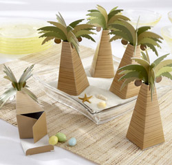 Palm Tree Beach/ Hawaiian/ Destination Wedding or Party Favor Box