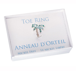 Palm Tree Beach Wedding Toe Ring