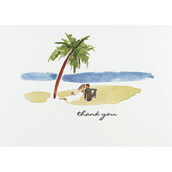 Paradise Thank You Cards