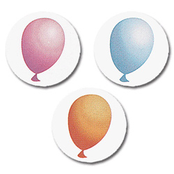 Self-Adhesive Orange, Blue and Pink Balloon Party Envelope Seals for Invitations