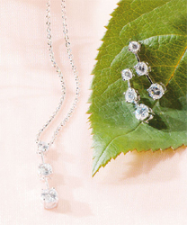 Past, Present and Future Silver Necklace with Cubic Zirconia