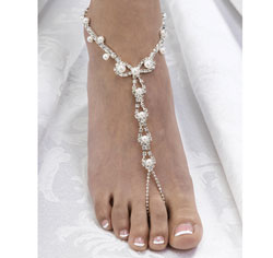 Pearl Rhinestone Foot Jewelry