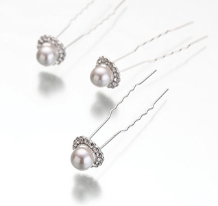 Pearl and Rhinestone Wedding Hair Pins