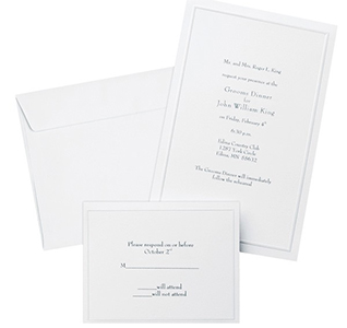 Diy wedding invitations wedding invitation kits pearl white invitation kit 50 count stopboris Image collections