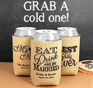 Can Wedding Koozie Kraft Design