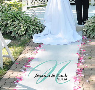 Personalized Elegance Wedding Aisle Runner