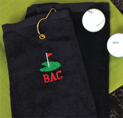 Personalized Golf Towel Wedding Gift