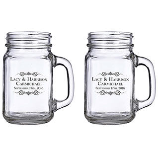 Wedding Mason Jars Personalized