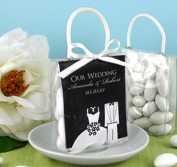 Personalized Mini Tote Favor Bags Silhouette Collection