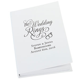 Wedding Ring Book Box Personalized