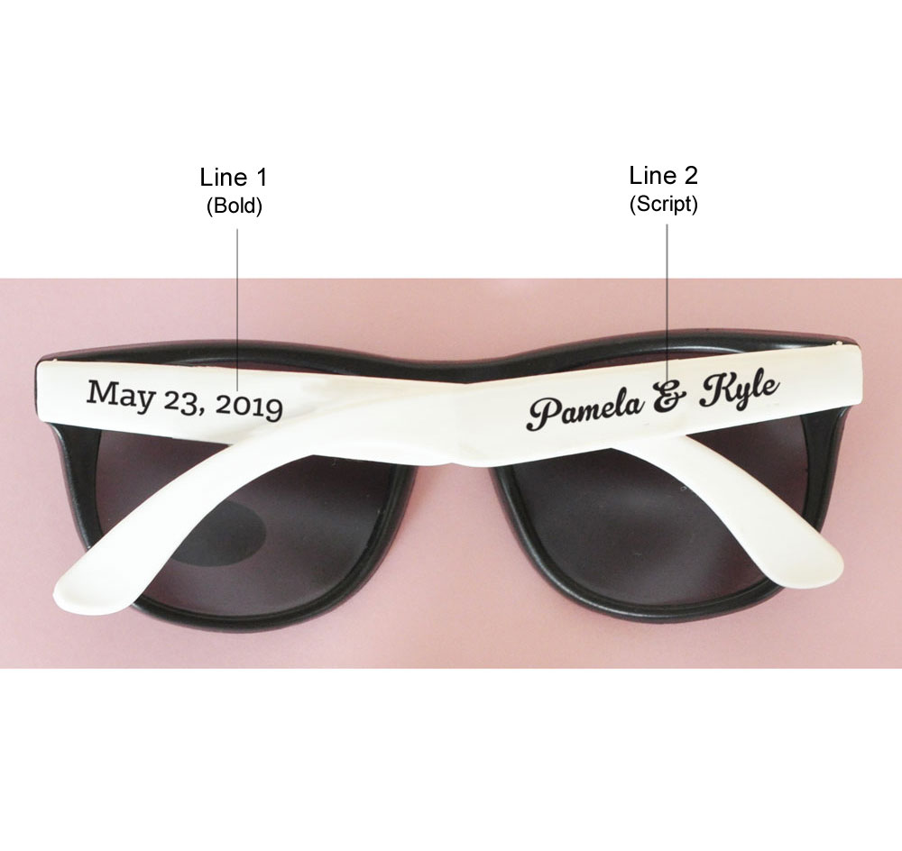 Wedding Sunglasses | Personalized Sunglass Wedding Favors