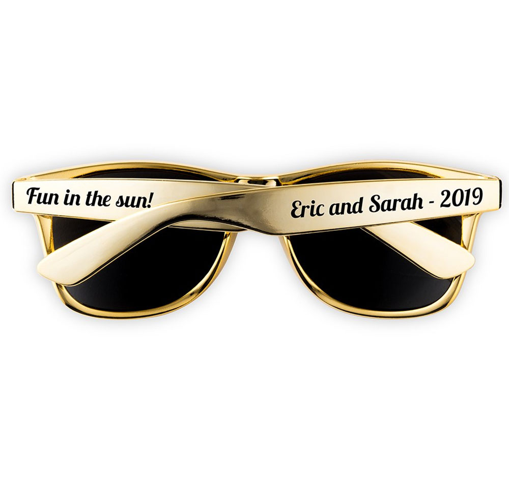 Gold Bridal Party Sunglasses | Wedding Party Sunglasses