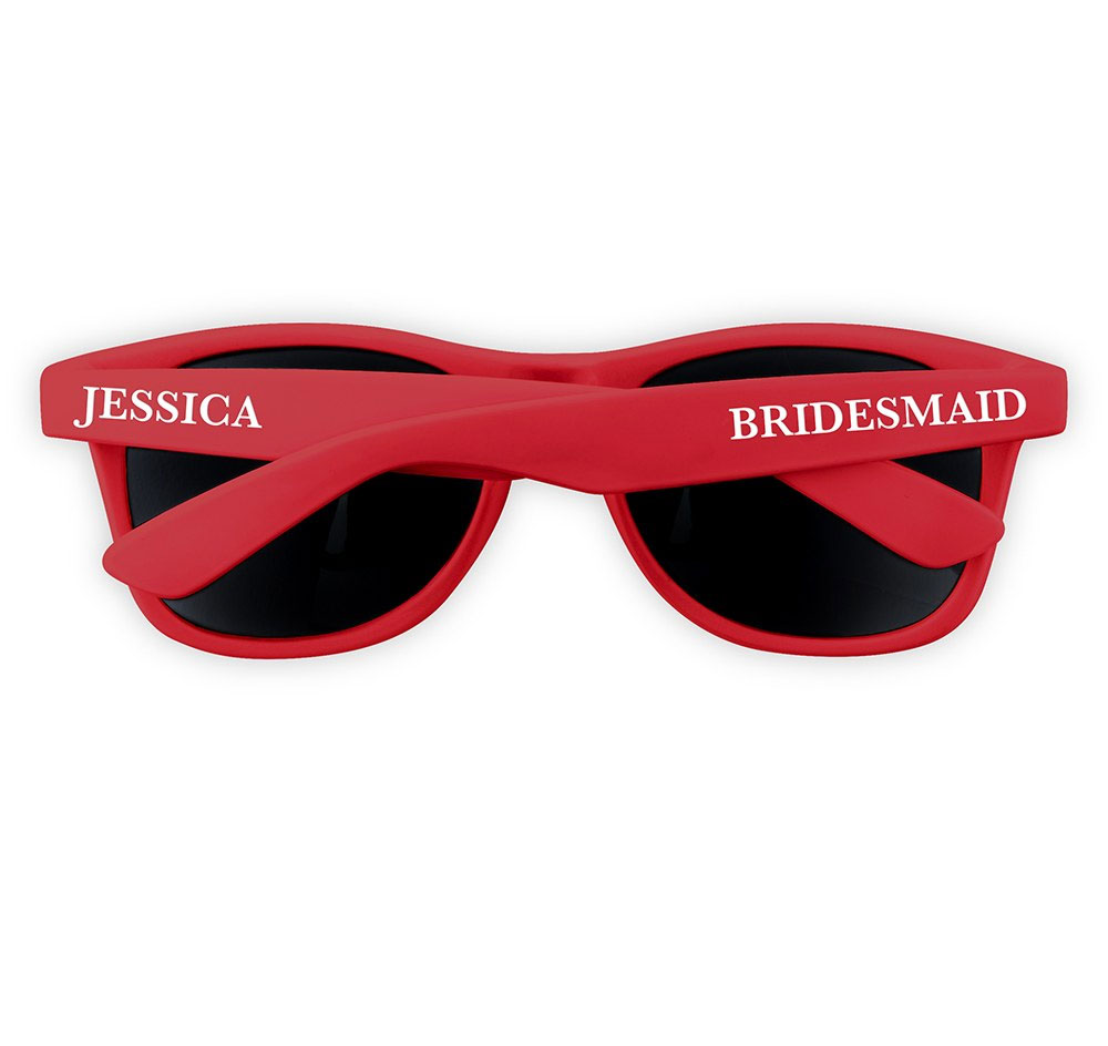 Personalized Sunglasses Bridal Party Sunglasses