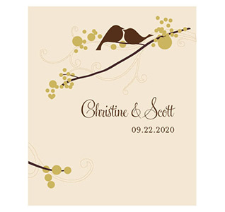 Love Bird Personalized Wedding Labels