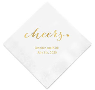 Cheers Personalized Wedding Napkins