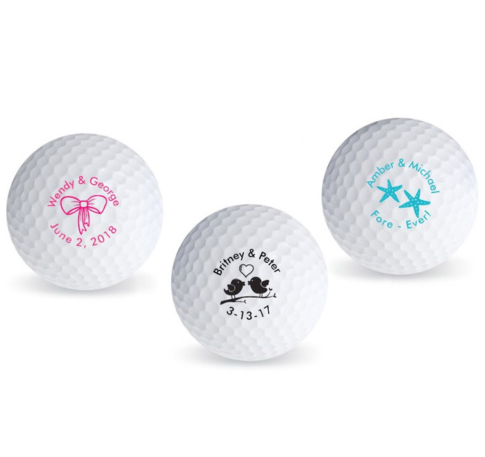 Personalized Wedding Theme Golf Ball Favors