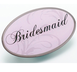 Pink Bridesmaid Pin