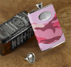Pink Camouflage Flask