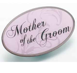 Pink Mother of the Groom Pin