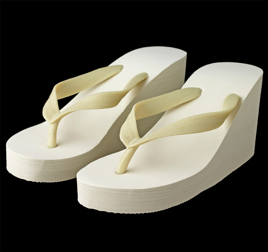 023733f236bb16 Ivory Platform Wedding Flip Flops