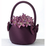 Purple Flower Girl Baskets