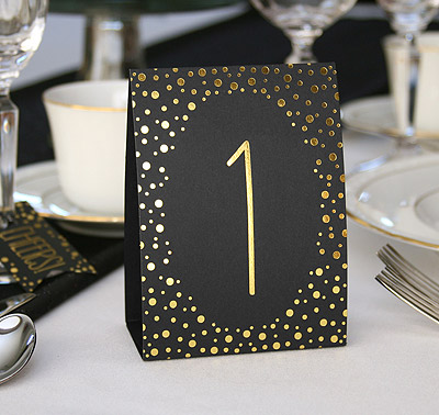 table number tents gold 1 40 wedding table numbers
