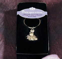 Frog Prince Charming Wedding Favor Silver Key Rings