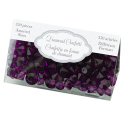 Purple Diamond Confetti/ Wedding/ Party Table Decor