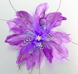 Purple Wedding Hair Clip