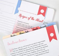 Recipe Cards Divider Set