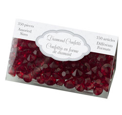 Red Diamond Confetti/ Wedding/ Party Table Decor