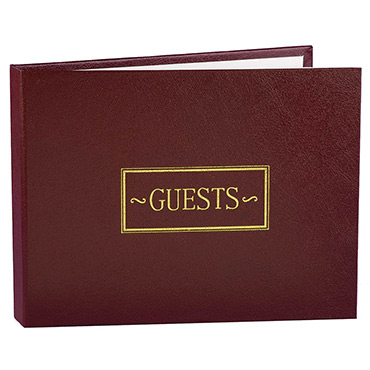 Red Guest Books